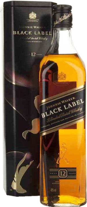 J. Walker Black Label Metall Box  0.7L