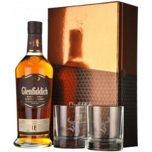 Glenfiddich 18 years 2 стакана 0.7L