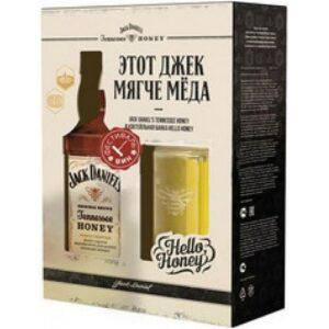J. Daniels Honey + 1 стакан картонная упаковка 0.75L