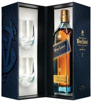 J. Walker Blue Label VAP (с двумя стаканами) 0.75L