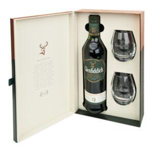 Glenfiddich 12 years 2 стакана 0.7L